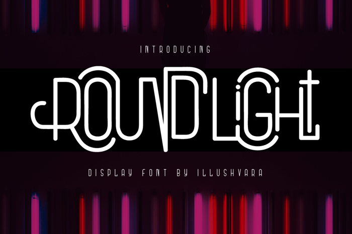Round Light Font poster