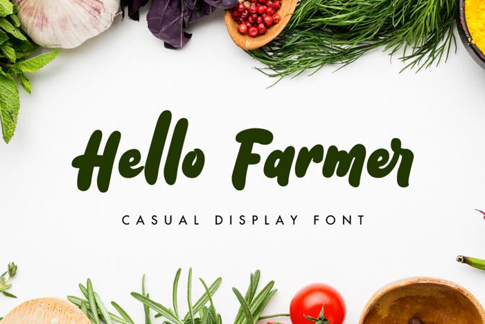 Hello Farmer Font poster