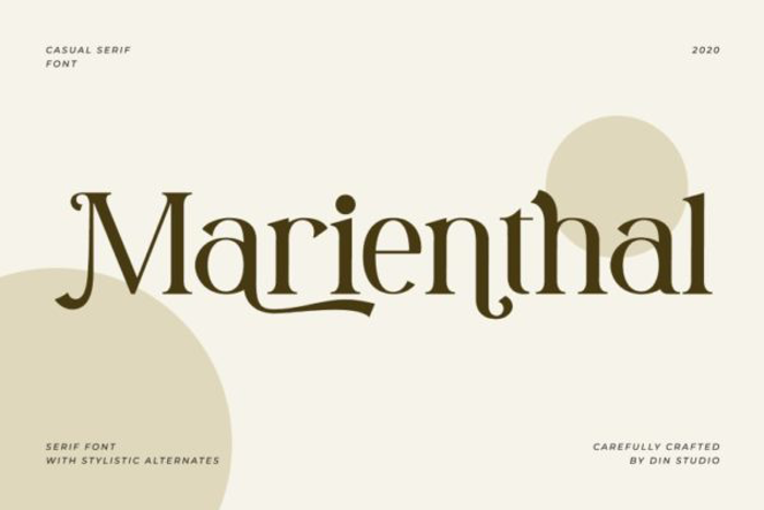 Marienthal Font poster