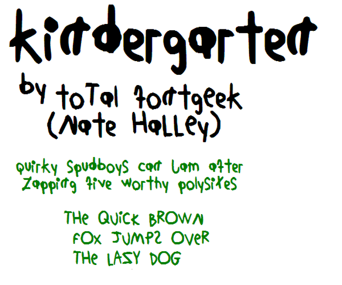 KindergartenNBP Font poster