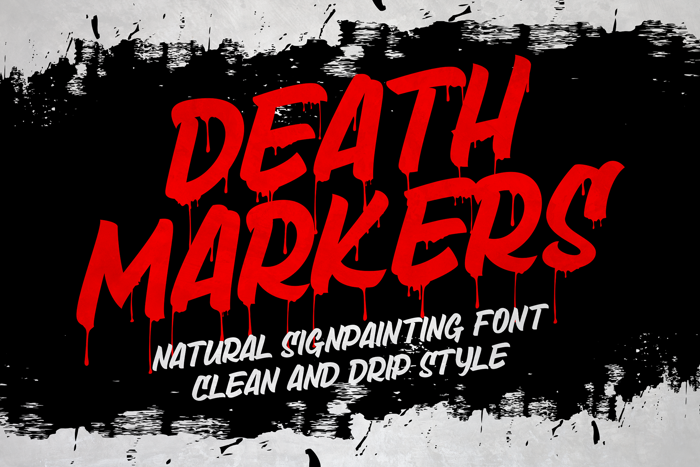 Death Markers Font poster