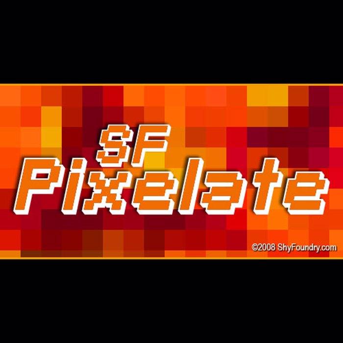 SF Pixelate Font poster
