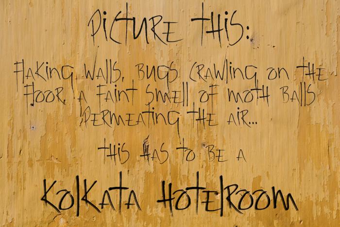 Kolkata Hotelroom Font poster