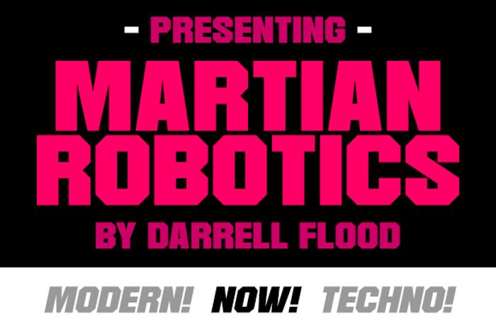 Martian Robotics Font poster