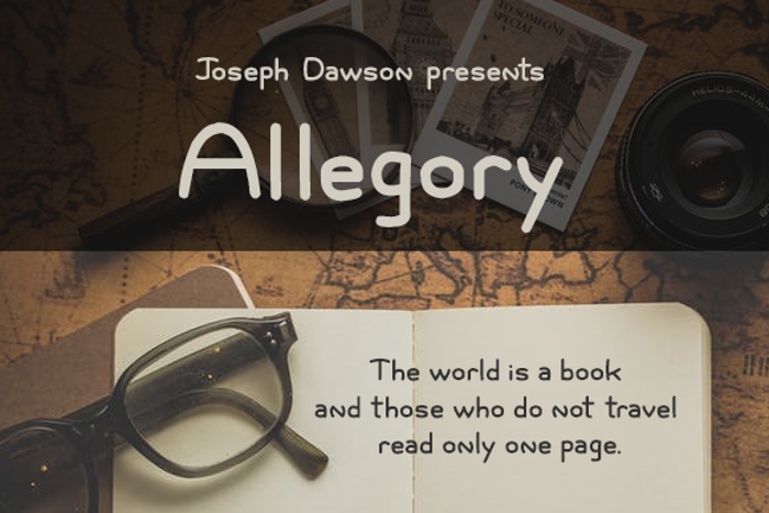 Allegory Font poster