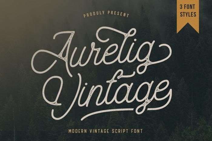 Aurelig Font poster
