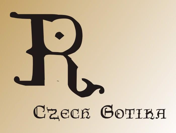 CzechGotika Font poster