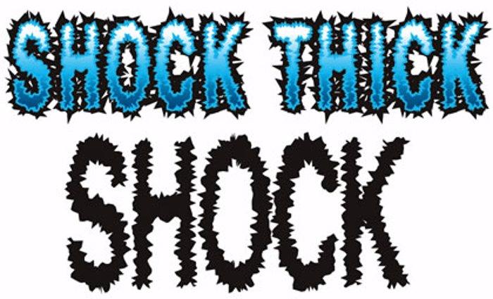 Shock Font poster
