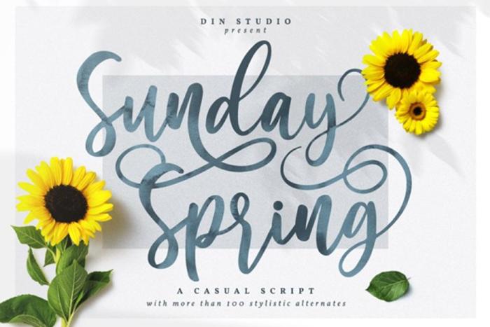 Sunday Spring Font poster