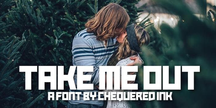 Take Me Out Font poster