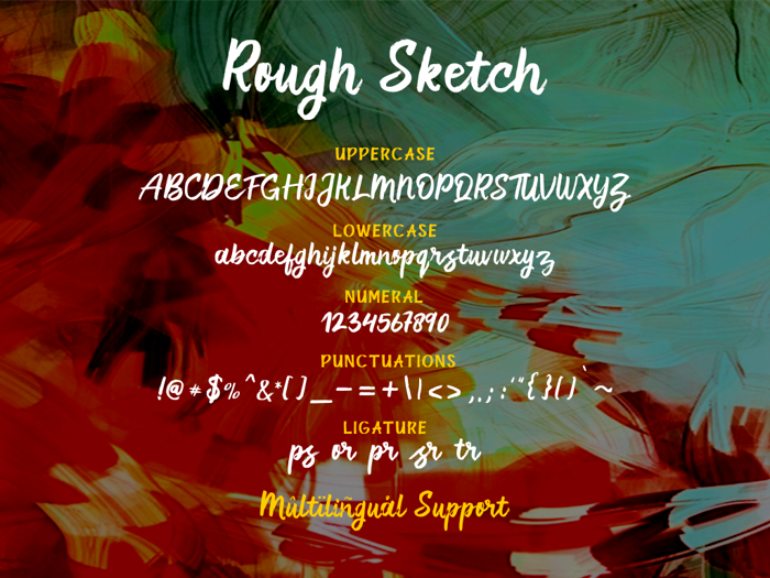 Rough Sketch Font poster