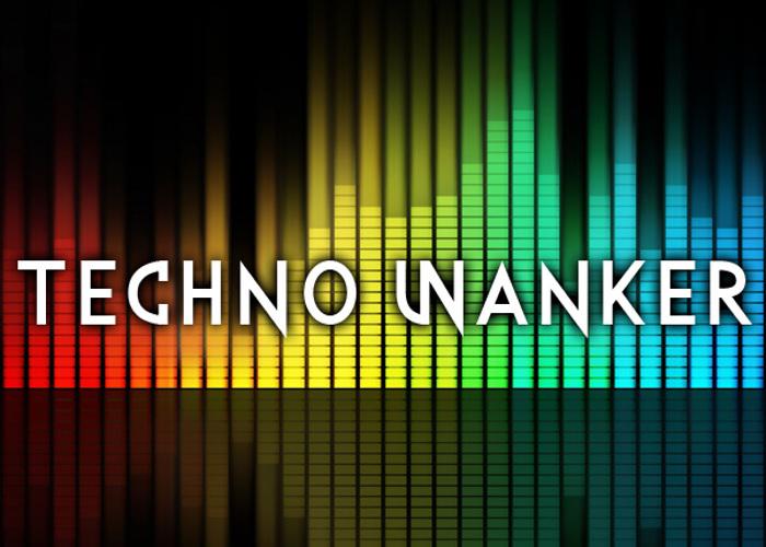 Techno Wanker Font poster