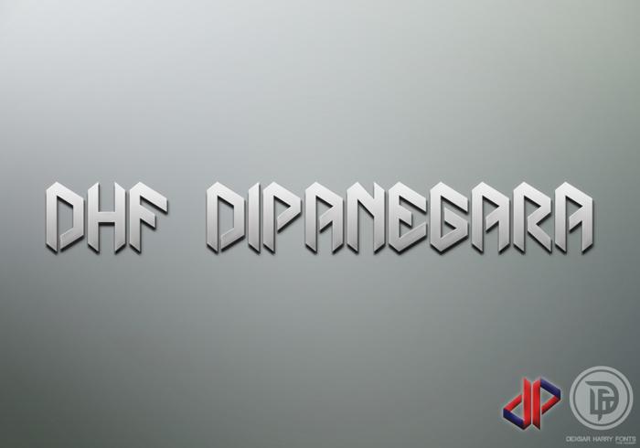 DHF Dipanegara Font poster