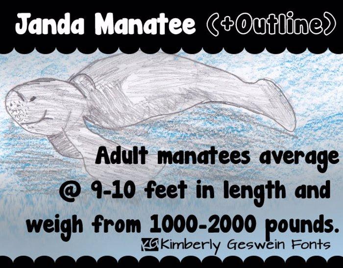 Janda Manatee Font poster
