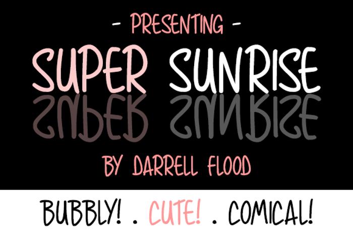 Super Sunrise Font poster