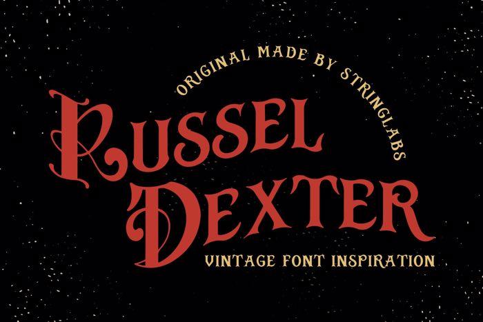Russel Dexter Font poster