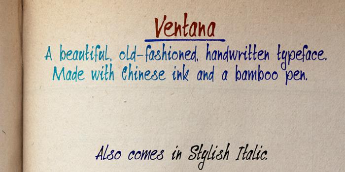 DK Ventana Font poster
