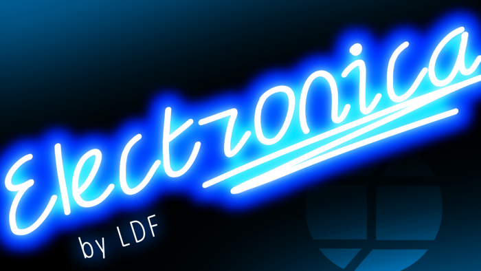 Electronica Font poster