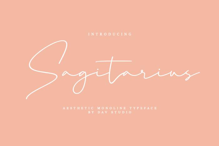 Sagitarius Font poster