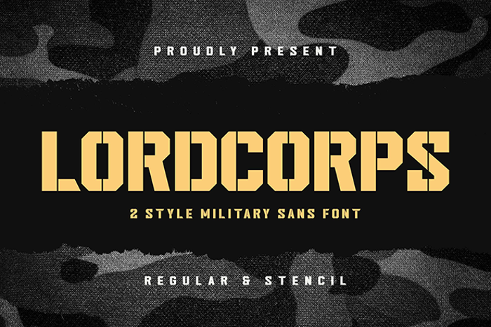Lordcorps Stencil Font poster