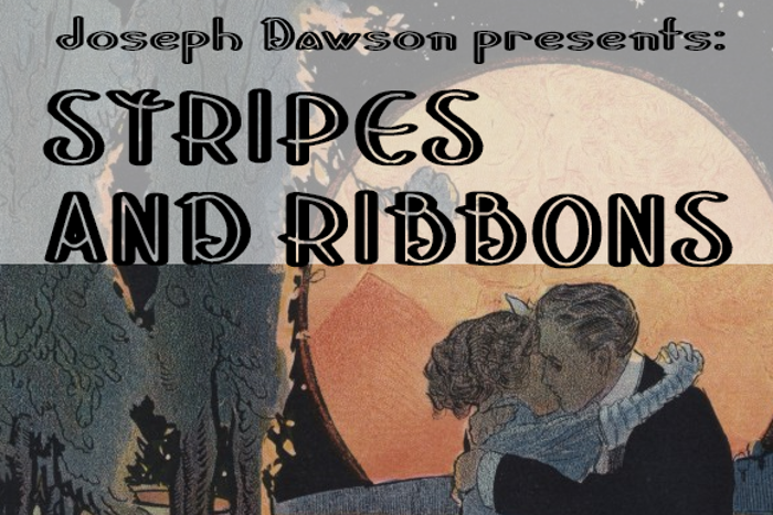 Stripes and Ribbons Font poster