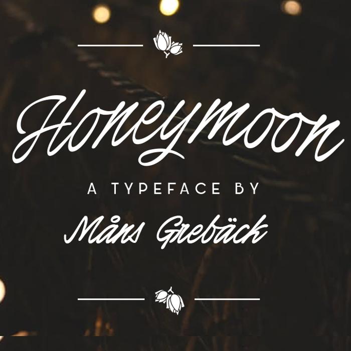 Honeymoon Font poster