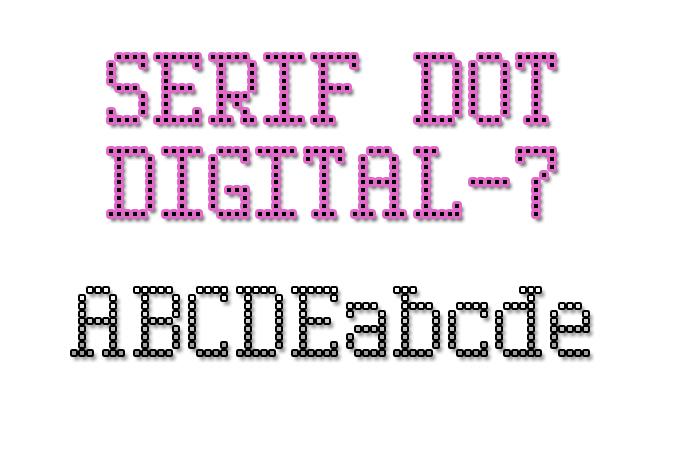 Serif Dot Digital-7 Font poster