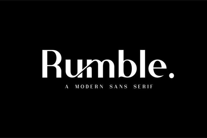Rubmble Font poster