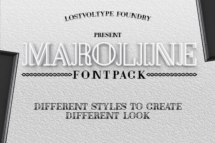 Maroline Font poster