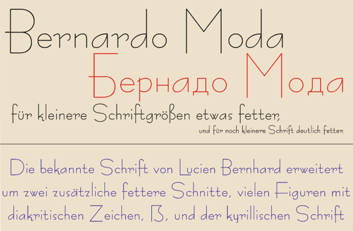 Bernardo Moda Font poster