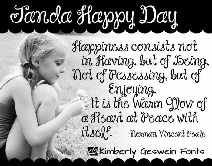 Janda Happy Day Font poster