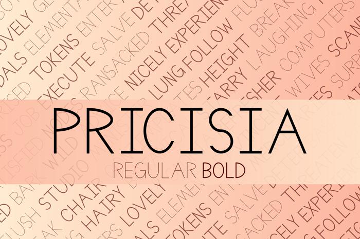 Pricisia Font poster