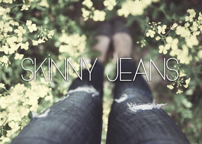 Skinny Jeans Font poster