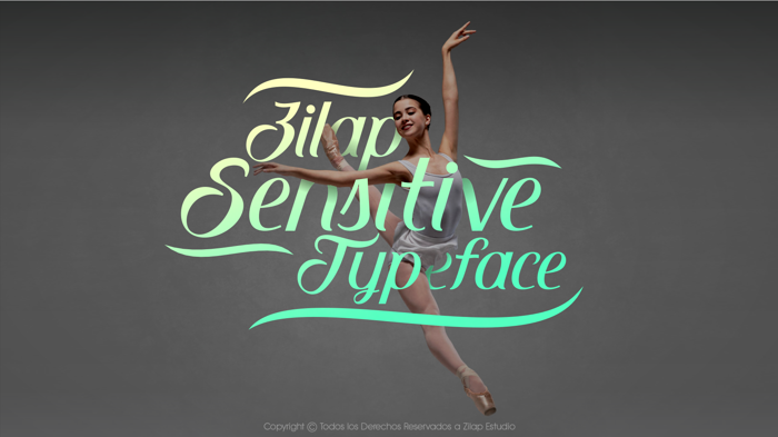Zilap Sensitive Font poster