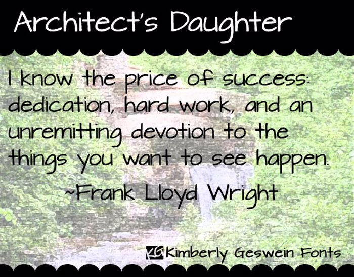 Architect's Daughter Font poster