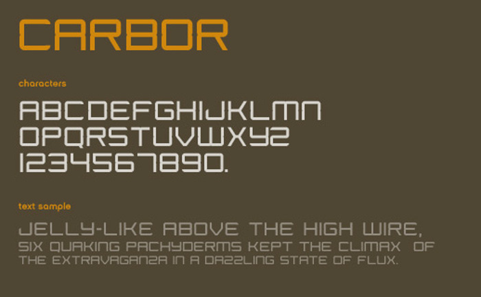 Carbor Font poster