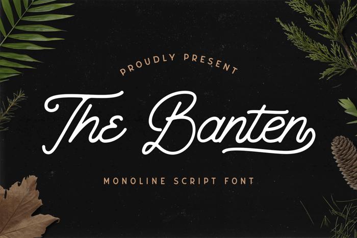 The Banten Font poster