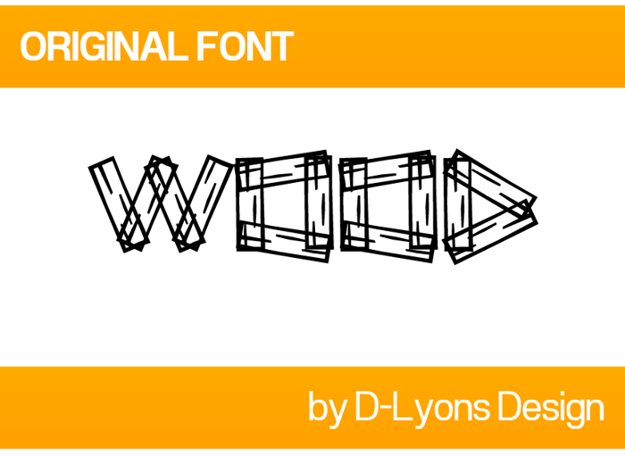 Wood Font poster