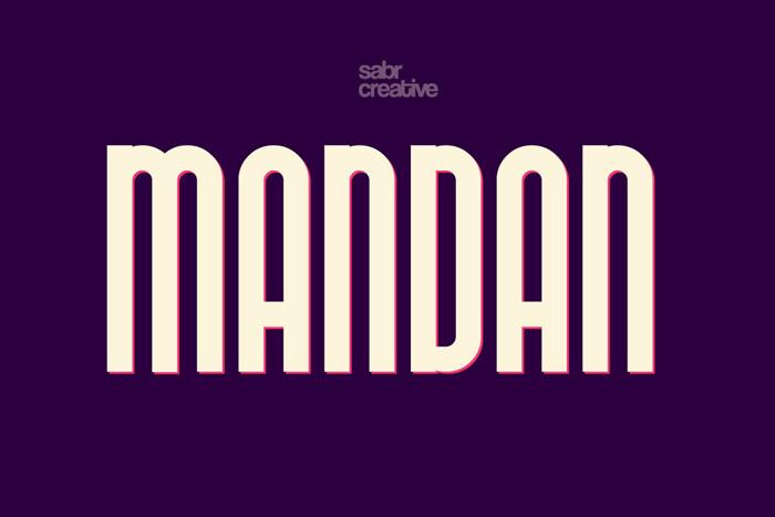 Mandan Font poster