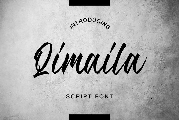 Qimaila Font poster