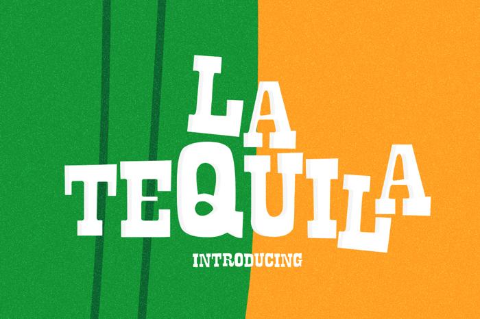 La Tequila Font poster