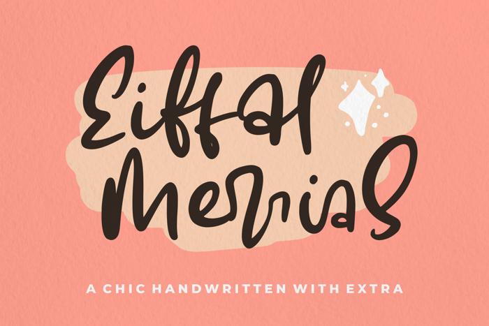 Eiffal Merrias Font poster