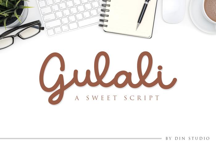 Gulali Font poster