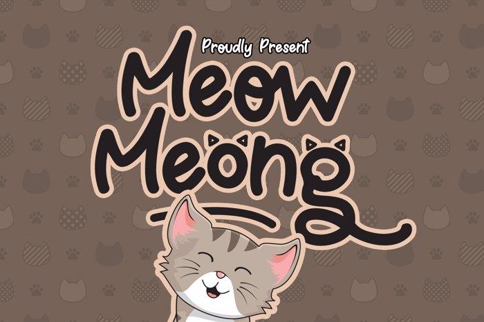 Meow Meong Font poster