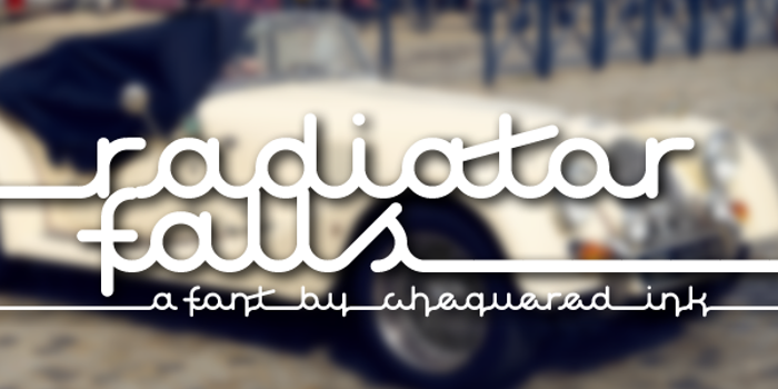 Radiator Falls Font poster