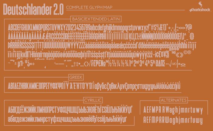 Deutschlander 2.0 Font poster