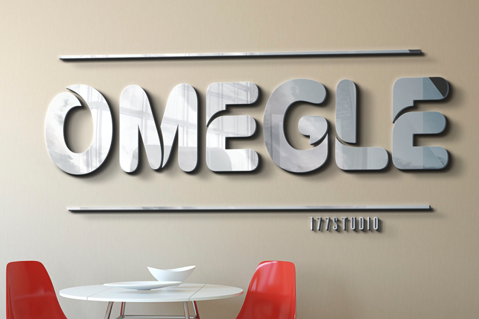 OMEGLE Font poster