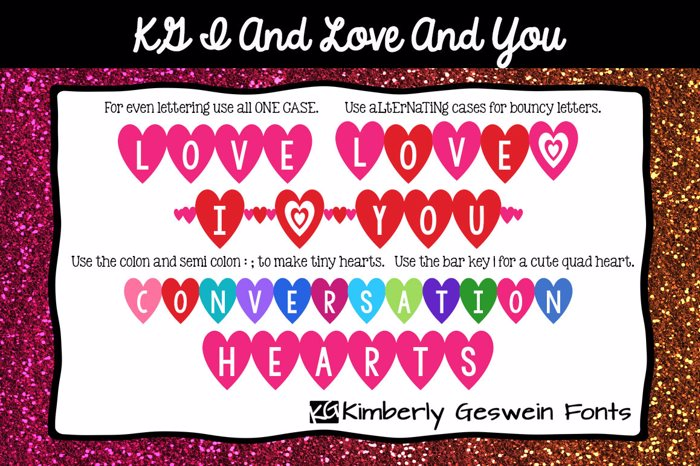 KG I And Love And You Font poster