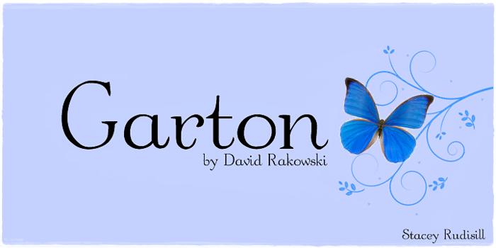 Garton Font poster