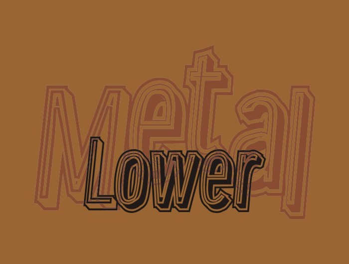 Lower Metal Font poster